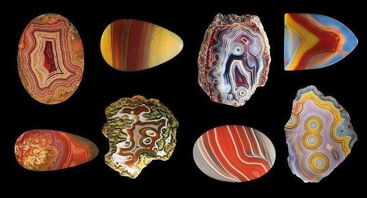 Окраска камня Агат