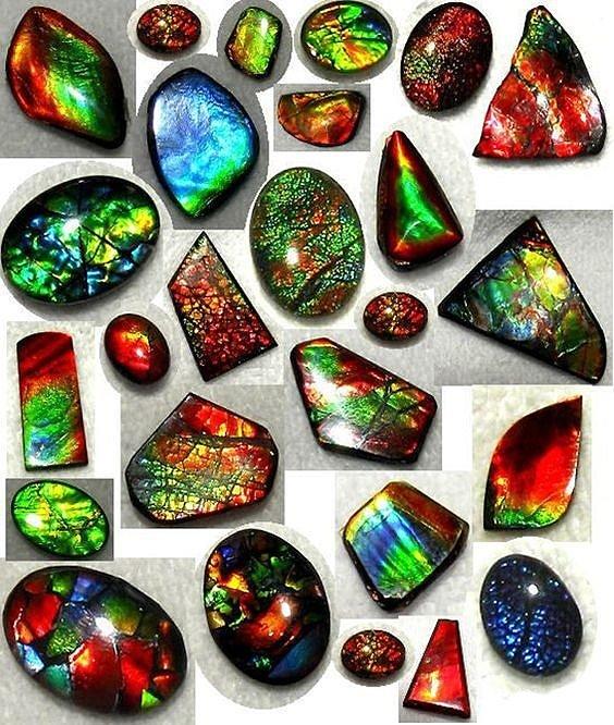 Камень Аммолит натуральный