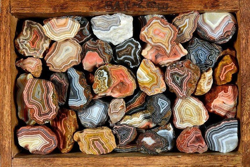 Расцветка камня агата натурального