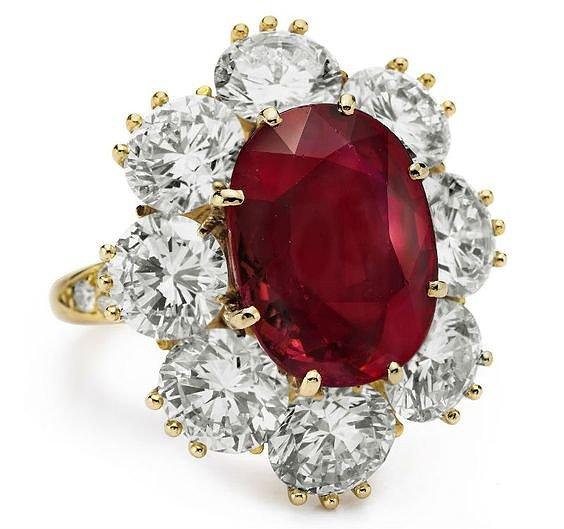 Кольцо с натуральным рубином купить