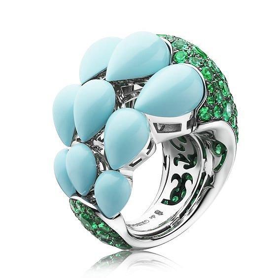 Серебряные кольца с бирюзой